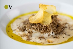 Steamed egg with potatoes and truffles by Chef Andrea Perini with Sincero