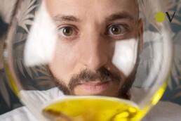Chef Andrea Perini, the astronaut of extra virgin olive oil