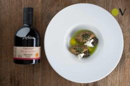 Eggplant tartare by Chef Andrea Perini with Don Gioacchino PDO